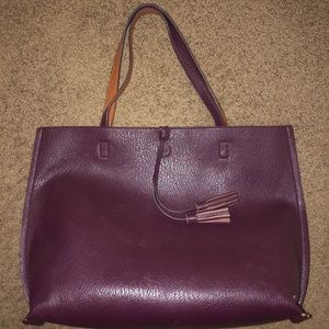 American Eagle Faux Leather Tote Bag